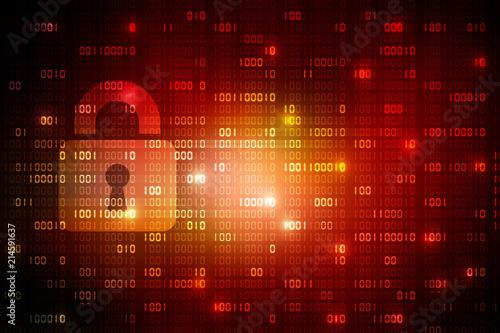 2d illustration Safety concept: Closed Padlock on digital background Poster