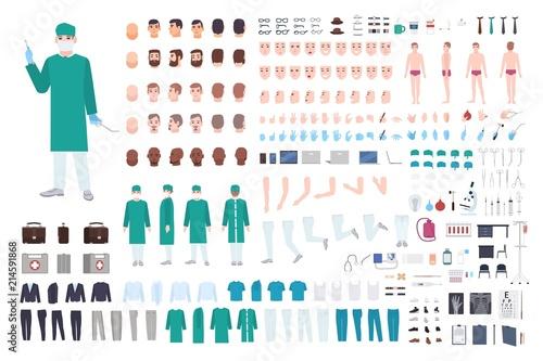 Fotografía  Doctor, surgeon or paramedic constructor or DIY kit