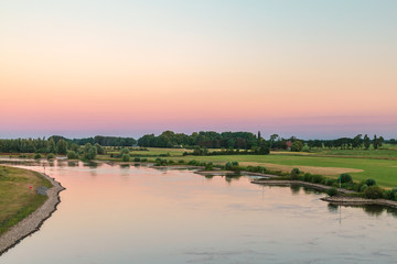 The old Dutch river IJssel in the province of Gelderland near the city of Zutphen