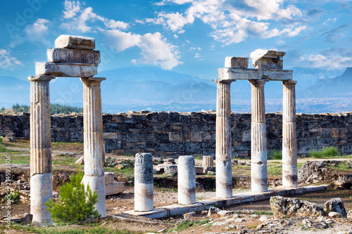Plagát  Hierapolis ancient city ruins, Pamukkale, Denizli, Turkey