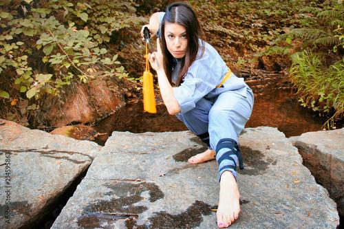 Photographie  Allenamento di Kung fu con la spada