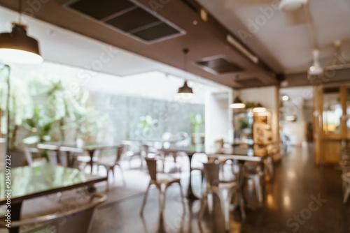 Foto auf Gartenposter Restaurant abstract blur and defocused in cafe restaurant for background