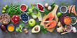 canvas print picture Healthy food selection