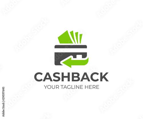Fotografía  Cash back service logo template