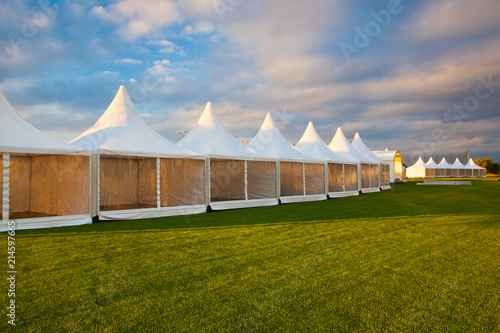 Obraz na plátně Mobile tent for trade show