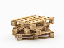 A Stack Of Brown Wooden Pallet...