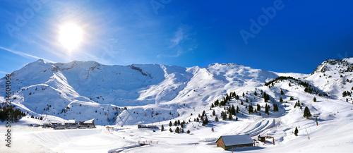 Cerler sky area in Pyrenees of Huesca Spain