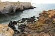 Beaches and cliffs of Tabarca Island in Alicante, Spain