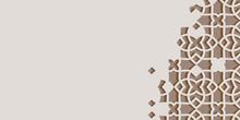 Arabic Arabesque Design Greeting Card For Ramadan Kareem.Islamic Ornamental Monochrome Detail Of Mosaic.Vector Illustration.