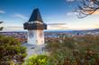 Leinwanddruck Bild - Graz clock tower at sunset, Graz, Styria, Austria