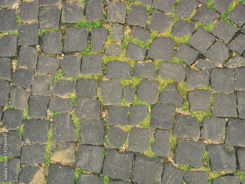 Foto op Aluminium Stenen The texture of the urban paving stone