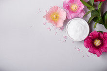 Natural Cosmetics Product, Flavored Sea Salt And Mallow Flowers