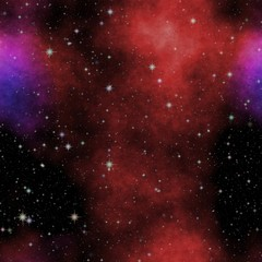 Texture universe night with stars and colorful clouds