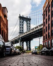 View Of Manhattan Bridge From Washington Street In Brooklyn