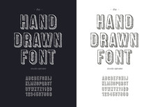 Vector Hand Draw Font Set For ...