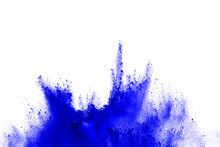Abstract Of Blue Powder Explos...