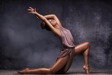 Young Afro Girl Dancing, Sensual Pose.