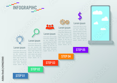 business infographic staircase template steps up stairway to the