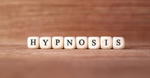 Word HYPNOSIS Made With Wood B...