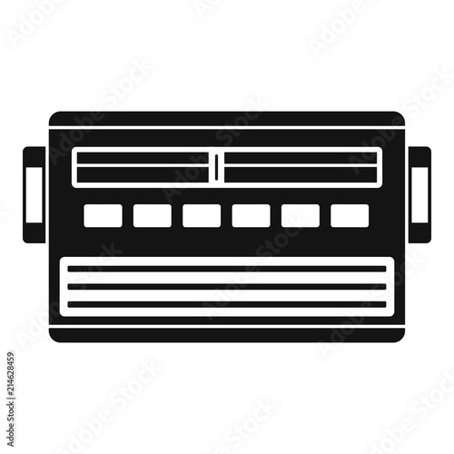 Old radio icon  Simple illustration of old radio vector icon for web