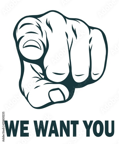 Fotomural We want you. Vector