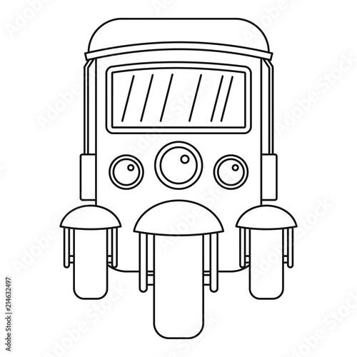 Fotografija Auto rickshaw icon