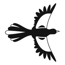 Air Fly Magpie Icon. Simple Illustration Of Air Fly Magpie Vector Icon For Web Design Isolated On White Background