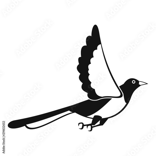 Magpie fly icon Canvas-taulu