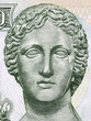 Artemis portrait from Cypriot money