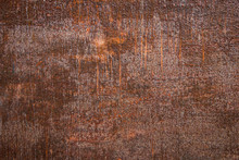 Old Rusty Steel Wall. Old Rusty Steel Plate. Grunge Wall For Background. Texture Background.