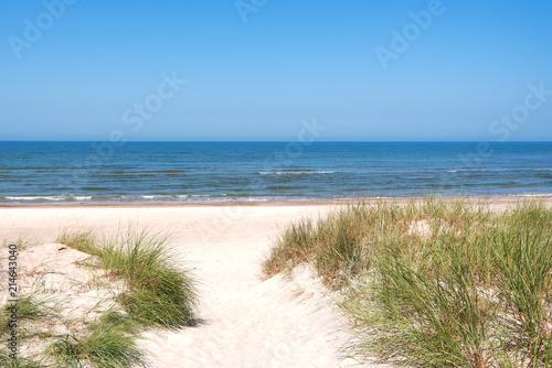 Fotobehang Zee / Oceaan Baltic sea coast next to Liepaja, Latvia.