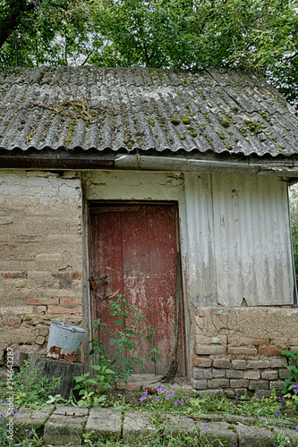 Old abandoned house in Chernobyl. Pripyat Canvas Print