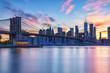 Brooklyn Bridge, NYC at sunset