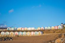 Blue Sky Above Beach Huts