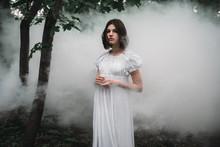 Female Victim In White Dress I...