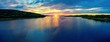 canvas print picture Sonnenuntergang am Glafsfjorden, Schweden, Panorama