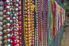 Carnival Beads, Mardi Gras, New-Orleans, United States Of America.