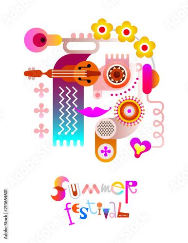 Staande foto Abstractie Art Summer Festival poster design