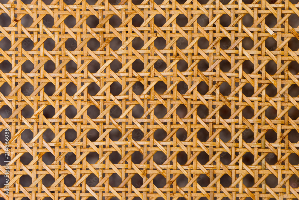 Fototapety, obrazy: Close up of the pattern formed by open weave rattan cane