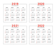 Years 2019 2020 2021 2022 Cale...