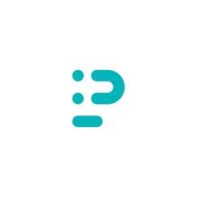 P Letter Logo Smile Initial Line Art Outline Monoline