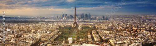 Fototapeta paris city in France by sunset obraz