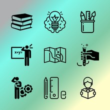 Vector Icon Set About Educatio...