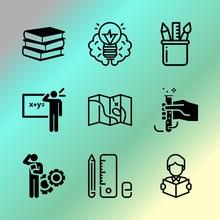 Vector Icon Set About Educatio...