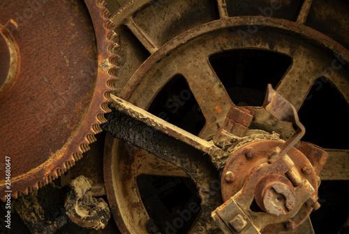 Fototapeta styl industrialny stara-maszyneria-industrialnej-przeszlosci