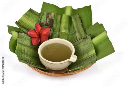 Foto  Crinum asiaticum, green leaves gel