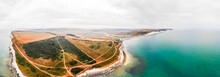 Aerial View Of Seven Sisters At Southy Downs, UK