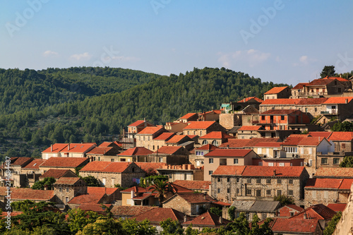 Valokuva  Citiscape of the Mediterranean town of Blato on Korcula island, Croatia