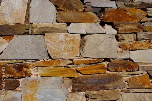 In de dag Stenen Mauer in Val de San Lorenzo, Spanien (Nahe Astorga)