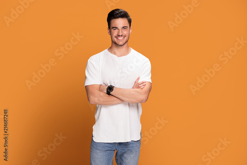 Photo of handsome smiling man.